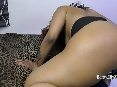 Horny Lily Indian Porn Babe Big Ass Spanked
